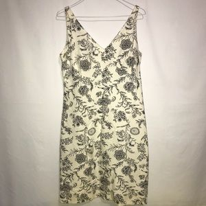Black and White Floral Dress Size 8